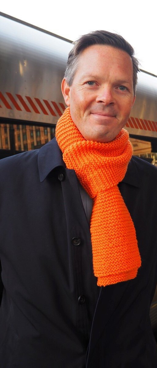 Philipp Engedal with orange scarf